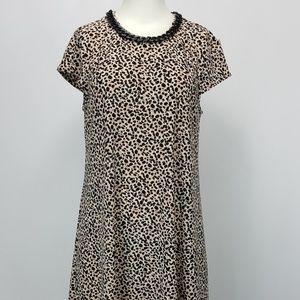 Karl Lagerfeld Leopard Print Swing Dress